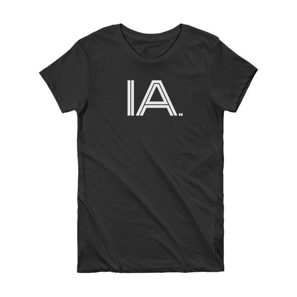 IA - State of Iowa Abbreviation Short Sleeve Women's T-shirt