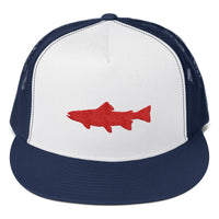 Trout Embroidered Trucker Cap