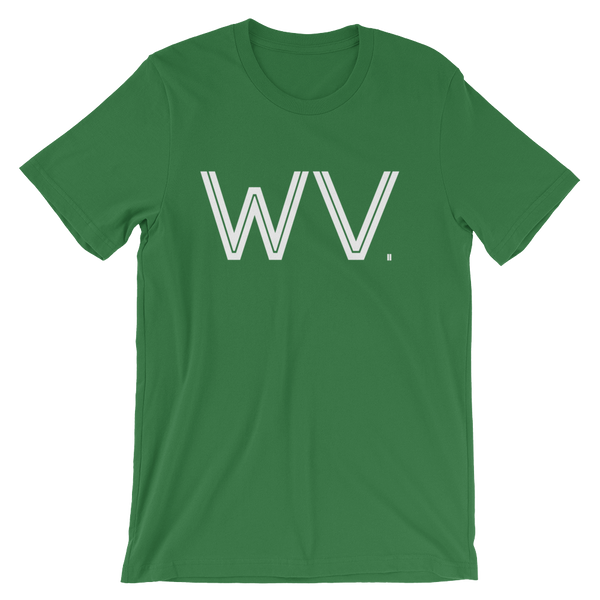 WV - State of West Virginia Abbreviation - Men's / Unisex short sleeve t-shirt