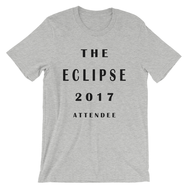 The Eclipse 2017 Attendee - Men's Unisex short sleeve t-shirt