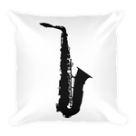 Saxophone Sihlouette Square Pillow