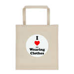 I Love (not) Wearing Clothes - Durable Canvas Tote bag