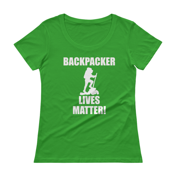 Backpacker Lives Matter! Ladies' Scoopneck T-Shirt