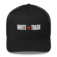 White Trash W/ Limited Rags Red Star Embroidered Trucker Cap