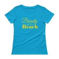 Beauty And The Beach - Ladies' Scoopneck T-Shirt