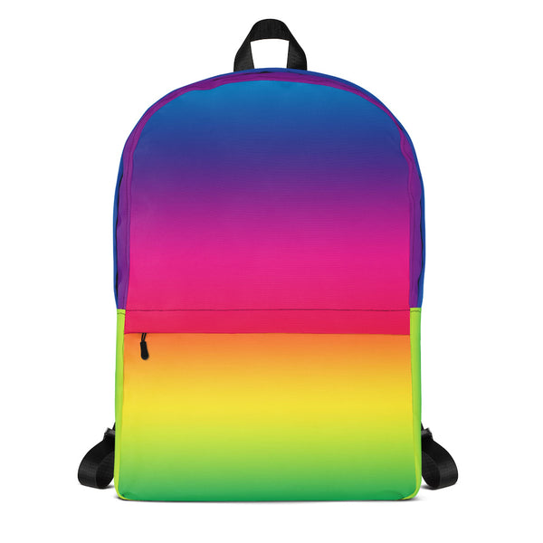 Bright Rainbow All Over Print Backpack