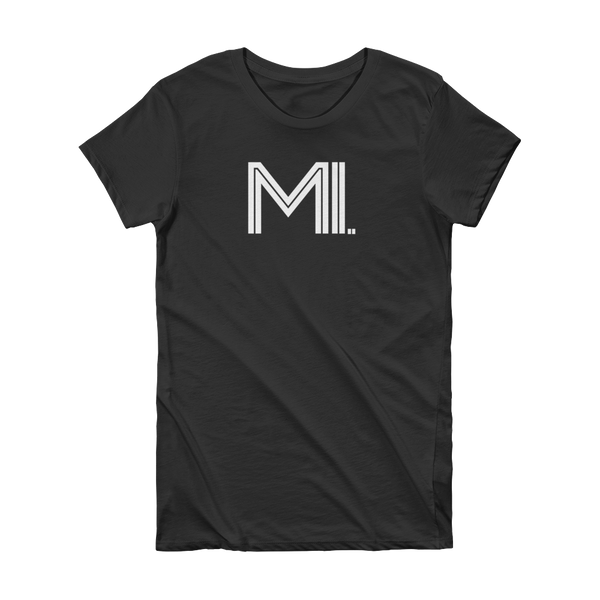 MI - State of Michigan Abbreviation Short Sleeve Women's T-shirt