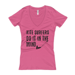 Kite Surfers Do It In The Wind - Women's V-Neck T-shirt