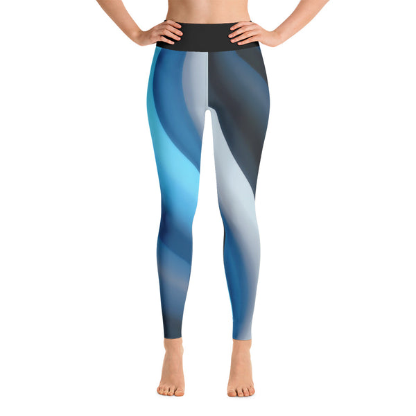 Blue Swirl All Over Print Yoga Pants / Leggings