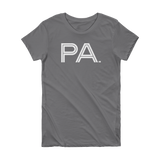 PA - State of Pennsylvania Abbreviation Short Sleeve Women's T-shirt