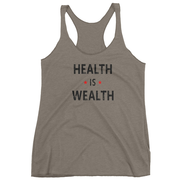 Health is Wealth Women's Racerback Tank Top