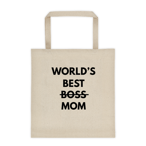 World's Best MOM - Durable Canvas Tote bag