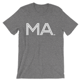 MA- State of Massachusetts Abbreviation - Men's /  Unisex short sleeve t-shirt