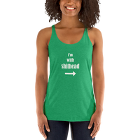I'm With Shithead Women's Racerback Tank