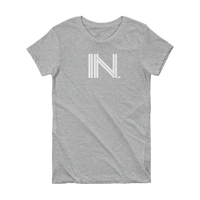 IN - State of Indiana Abbreviation Short Sleeve Women's T-shirt