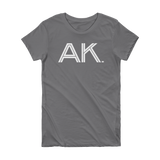 AK - State of Alaska Abbreviation - Short Sleeve Women's T-shirt