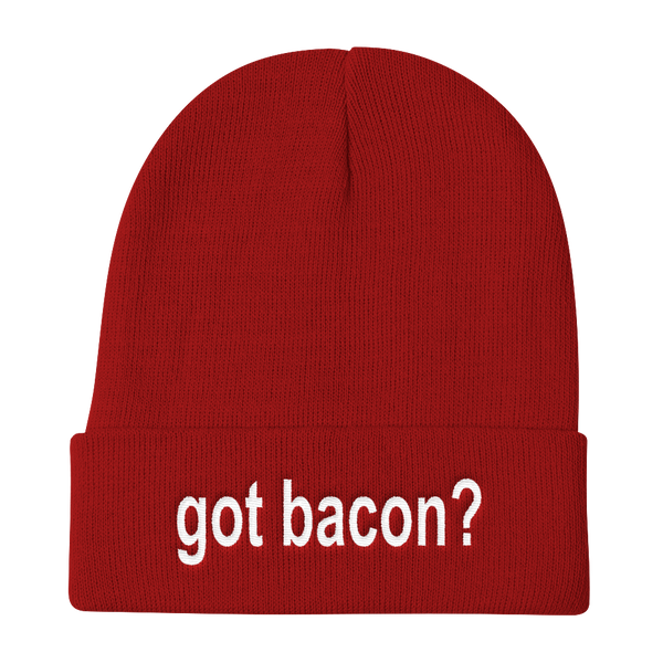 Got Bacon? Knit Beanie Stocking Cap