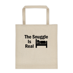 The Snuggle Is Real - Durable Canvas Tote bag