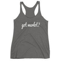 Got MERLOT? Women's Red Wine tank top