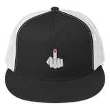 Middle Finger Flip Off Fuck You Embroidered Trucker Cap