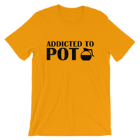 Addicted To POT - Funny Coffee Pot Men's / Unisex short sleeve t-shirt