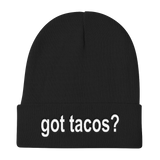 Got Tacos? Funny Taco Stocking Knit Beanie