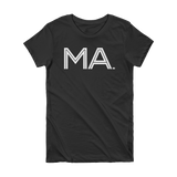 MA- State of Massachusetts Abbreviation Short Sleeve Women's T-shirt