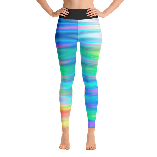 Gorgeous Rainbow Waves All Over Print Yoga Pants / Leggings