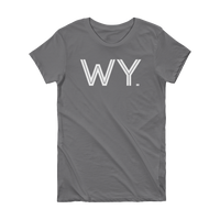 WY - State of Wyoming Abbreviation Short Sleeve Women's T-shirt