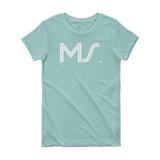 MS - State of Mississippi  Abbreviation Short Sleeve Women's T-shirt