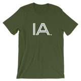 IA - State of IOWA Abbreviation T Shirt. Men's / Unisex short sleeve t-shirt