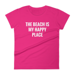 The Beach is My Happy Place - Women's short sleeve t-shirt