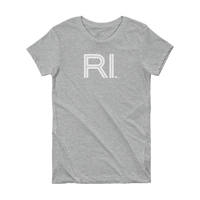 RI - State of Rhode Island Abbreviation Short Sleeve Women's T-shirt