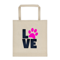 I Love My Dog - Durable Canvas Tote bag