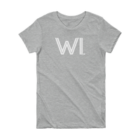 WI - State of Wisconsin Abbreviation Short Sleeve Women's T-shirt