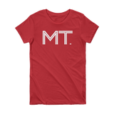 MT- State of Montana Abbreviation Short Sleeve Women's T-shirt