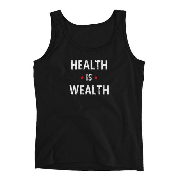Health is Wealth Ladies' Tank Top