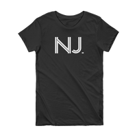 NJ - State of New Jersey Abbreviation Short Sleeve Women's T-shirt