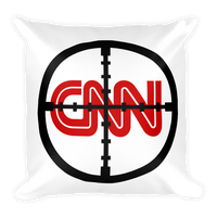 CNN With Cross hairs FAKE NEWS Square Pillow