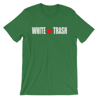 White Trash With Limited Rags Red Star Unisex short sleeve t-shirt