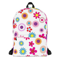 Fun Floral All Over Print Backpack