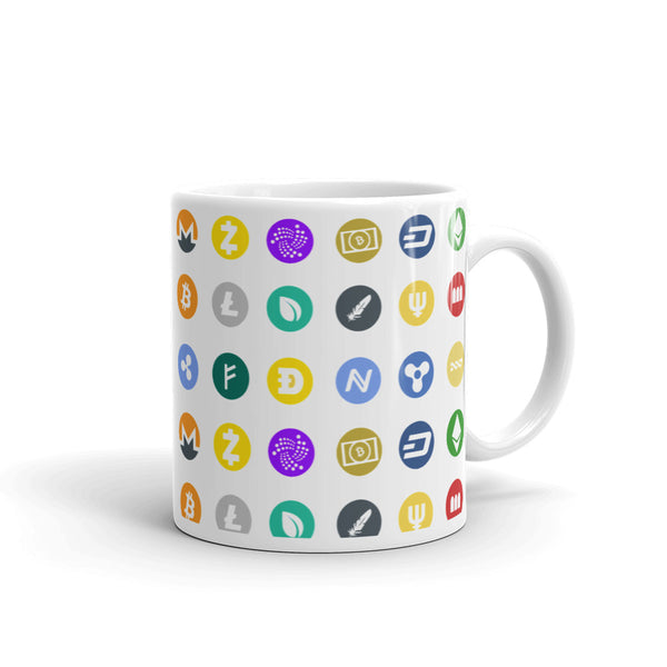 Cryptocurrency Icons Crypto Coffee Mug