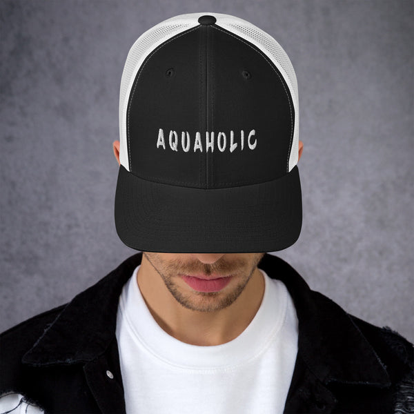 AQUAHOLIC funny ocean lovers Trucker Cap