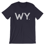 WY - State of Wyoming Abbreviation - Men's / Unisex short sleeve t-shirt