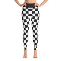 Checkered Flag All Over Print Yoga Leggings