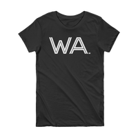 WA -State of Washington Abbreviation Short Sleeve Women's T-shirt