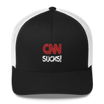 CNN SUCKS! Fake News Embroidered Trucker Cap