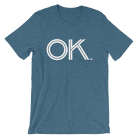 OK - State of Oklahoma Abbreviation - Men's / Unisex short sleeve t-shirt