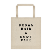Brown Hair & Don't Care Durable Canvas Tote bag