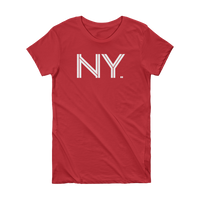 NY - State of New York Abbreviation Short Sleeve Women's T-shirt
